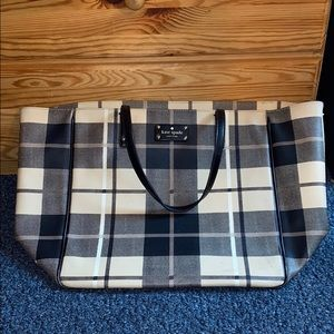 Kate Spade Plaid Tote Bag with some inside damage